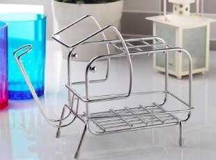 大象款可爱放牙刷架 不锈钢牙缸架子创意套装 牙刷杯架韩国洗具架,