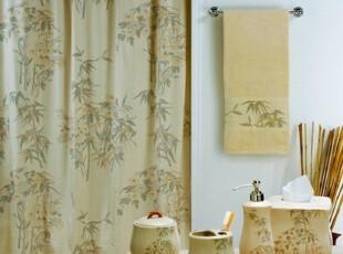 【纽约下城公园】东方情怀幽幽竹林陶瓷浴室套件组合,