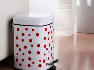 波点方形垃圾桶厕所垃圾桶 家用垃圾桶时尚创意卫生间垃圾桶脚踏,