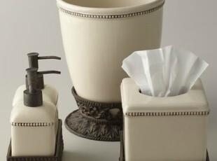 【纽约下城公园】欧式经典古铜铸铝象牙瓷卫浴组件 现货,