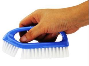 日本AISEN弧面双刷头洗衣刷 衣鞋刷子 多功能清洁刷 浴缸刷地板刷,