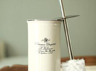 【马洛卡】法式乡村风格白瓷马桶刷,马桶配饰,