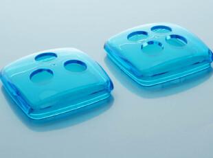 带孔宝石蓝 塑料牙刷架盖子 创意牙缸架盖【通用本店任一款方杯】,