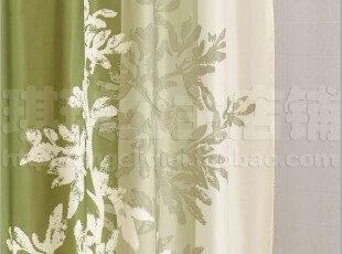 今天包邮 欧式华贵手绘花系列外贸浴帘 绿树 涤纶防水防霉 铅线,