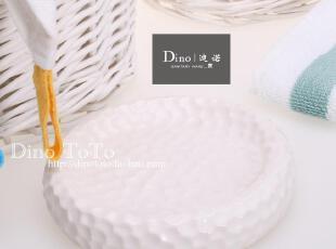 浮雕蜂窝纹理 外单陶瓷卫浴配件洗漱用品具肥香皂盒碟子 现货实拍,