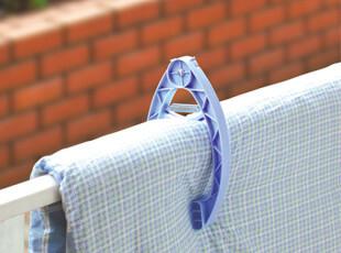 日本进口sanada 晒被架 晾晒夹 晒被子枕头 防风夹 晒枕夹 晾晒架,