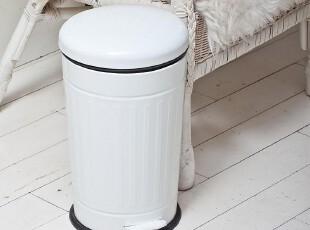 欧式~外贸白色锥形垃圾桶脚踏 可爱创意卫生间家用厨房日本卫生间,