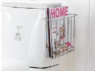 创意 卫浴置物架 卫生间报纸杂志收纳篮 报刊杂志铁艺收纳储物架,浴室储物,