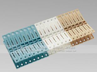 日本LEC  晒衣夹 衣物夹 晾晒夹 晾衣夹 塑料夹子 超值40P W-334,