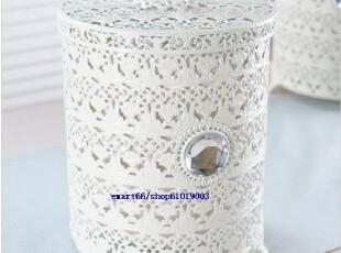 韩国代购 浪漫白色 废纸桶/垃圾桶/有内层(2种),
