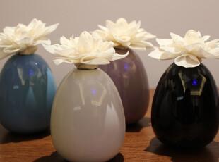 特价促销正品Roselover球状白色布花无火香薰礼品套装净化空气,