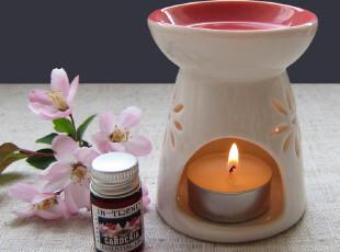 樱花纯白雕花镂空陶瓷精油炉香薰炉精油灯香薰灯蜡烛加热熏香炉,