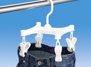 日本进口LEC  袜子裤子架 晾衣架 晒裤架 裤子夹 晾晒架 洗晒用具,