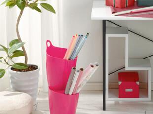日本进口收纳桶 家居彩色置物桶  椭圆形垃圾桶 多色 7升 单个价,浴室储物,