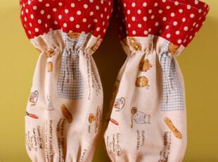 「GUIA'S」红玉面包棉麻短款袖套,