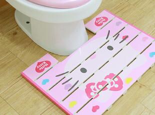 ★公主梦想★韩国家居*Hello Kitty浴室用踏板*木质地垫W1649,浴室垫,