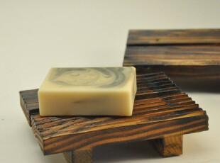 和熙良品  天然环保炭烧木质香皂盒 创意时尚皂托皂盘肥皂盒,