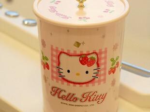 韩国进口 正版 hello kitty 草莓 塑料 圆 垃圾桶 暂时缺货,