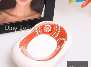 独家红色圈圈外单陶瓷卫浴洗漱用品肥皂碟香皂碟子 厂销现货实拍,