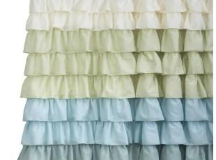 【纽约下城公园】天使裙摆高雅褶皱浴帘 现货,