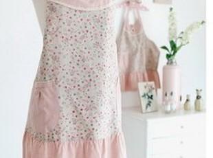 「朱朱家园」韩国直送*料理时间*卡通粉色围裙、亲子款B2473,