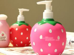 韩国进口家居⊕可爱草莓系列 洗手液瓶.洗涤剂瓶.皂液器 QT005,