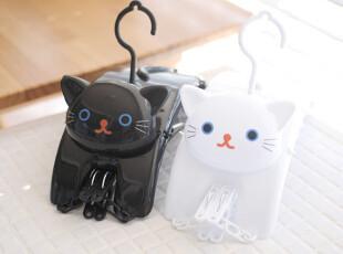 『韩国网站代购』可爱黑白小猫衣物晾晒架,
