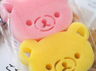 特 日单 轻松熊Rilakkuma 洗碗、家务海绵擦/百洁擦 头型2只装,