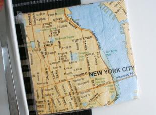 出口大号印花餐巾纸/手帕纸/纸巾/婚庆纸巾/3层/20张纽约地图,