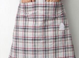 MUJI 外贸麻棉交织色织布围裙/厨房围裙/工作围裙 无印良品,