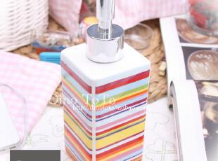 多彩 陶瓷厨房卫浴配件用品具 洗洁乳涤手香水液瓶罐子 厂家实拍,