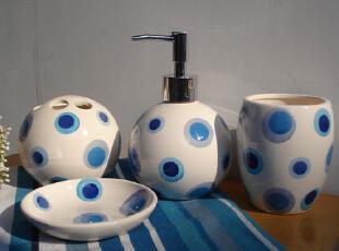 特价绚蓝卫浴4件套,漱口杯。皂碟,牙刷架,洗手液瓶,