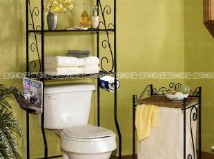 包邮浴室铁艺马桶架子多层浴室置物架纸巾架欧式卫生间浴室收纳架,马桶配饰,