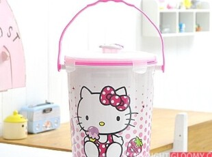 韩国正品 Hello Kitty 凯蒂猫 厨房食物沥水处理器垃圾桶 除臭型,