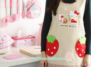 日本外贸hello kitty和兔子草莓口袋 马甲可爱时尚韩版围裙-KT16,
