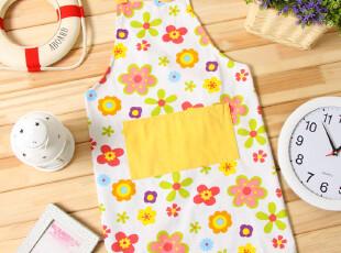【易托净】韩式可爱卡通帆布围裙(黄色碎花)(内有多款可选),