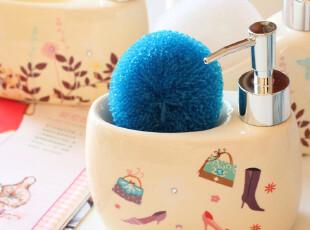 别致の浴室小物.轻质陶瓷小清新洗手液瓶子/乳液器.4款可选.,