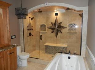 ,地中海风情,浴室,