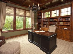 ,当代风格,书房,