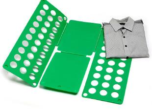 趣玩网 方便叠衣板 懒人快捷加厚环保叠衣板 五色入 可调节折衣板,