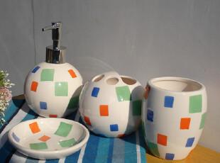 特价卫浴四件套/漱口杯/洗手液瓶/皂盒/牙杯/沐浴液瓶,