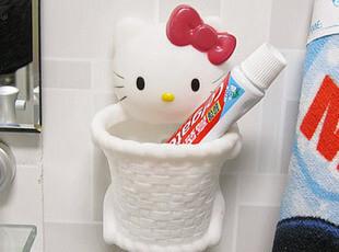 创意hellokitty卡通吸盘置物架浴室卫生间架卫浴牙刷架用品吸盘式,