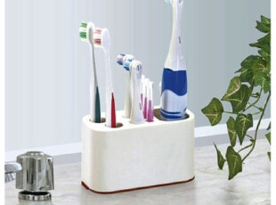 日本进口家居用品 牙刷立盒 牙刷收纳架  卫浴收纳13147,浴室储物,