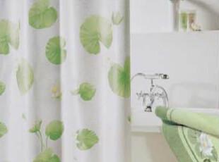 【欧洲时尚卫浴】SPIRELLA正品涤纶布荷叶防水浴帘(包邮),