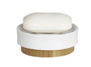 【欧式设计】spirella正品 田园风 陶瓷加浅竹纹 香皂盒,