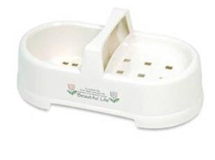 韩国进口 卫浴收纳置物盒 香皂盒 可沥水收纳盒子 双格置物,浴室储物,