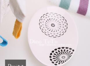 旋转花纹 外单陶瓷卫浴配件洗漱用品具香肥皂盒碟子 厂销现货实拍,