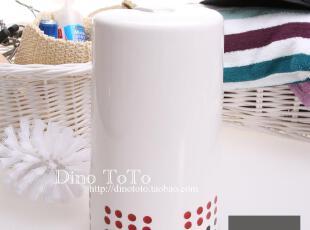 简约点点陶瓷配塑料浴室卫浴用品马桶刷架套装洁厕刷厕所刷马桶杯,马桶配饰,