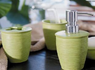 瑞士品牌SPIRELLA丝普瑞Structured树脂木纹时尚浴室卫浴四件套装,