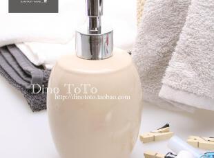 米黄色外单陶瓷厨房卫浴用品洗洁液瓶乳液瓶香水瓶厂销 厂销实拍,